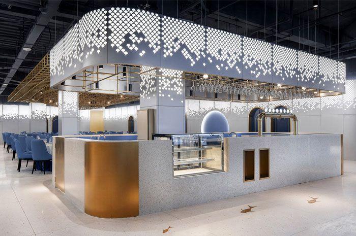 طراحی رستوران غذا های دریایی