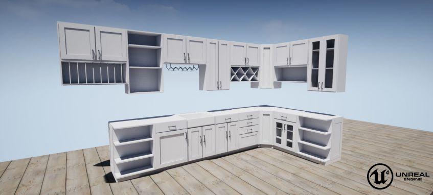 دانلود آبجکت کابینت آشپزخانه به سبک شیک
