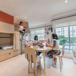 طراحی خوابگاه دانشجویی ارزان برای 7 نفر