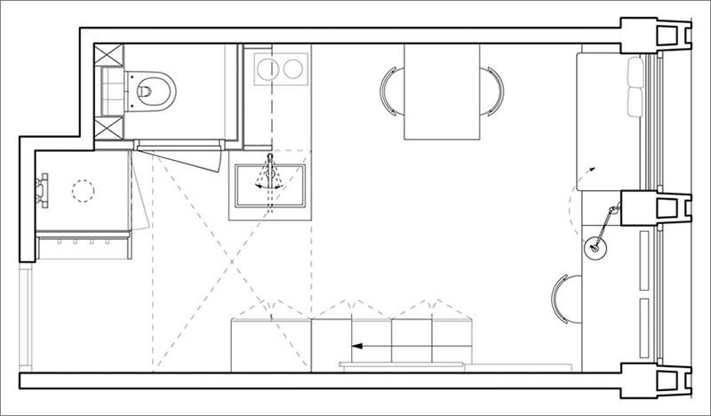 پلان آپارتمان دانشجویی