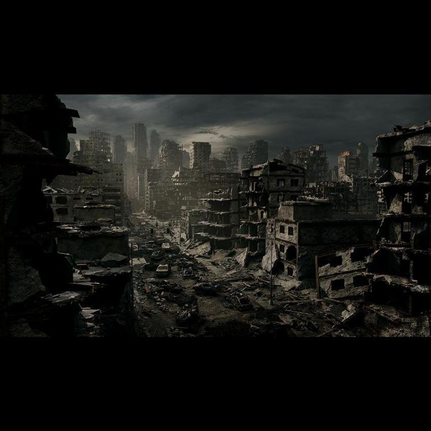دانلود مدل سه بعدی شهر جنگ زده