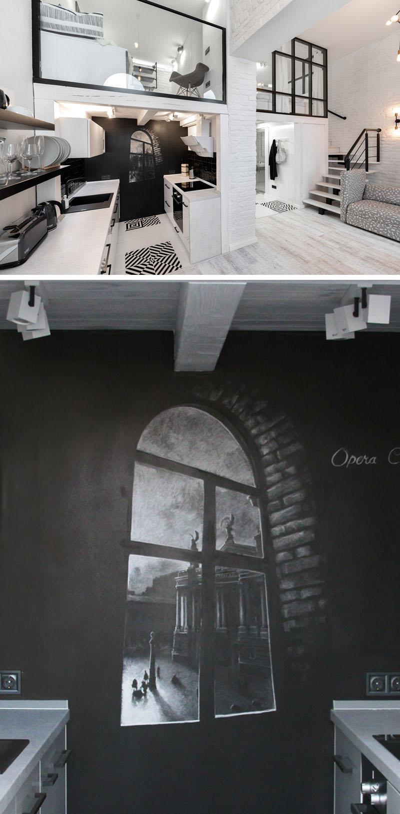 طراحی آپارتمان با تم سیاه و سفید