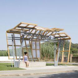 طراحی ایستگاه اتوبوس در اسپانیا