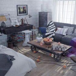 آموزش مدلسازی اتاق خواب در سینمافوردی با Vray