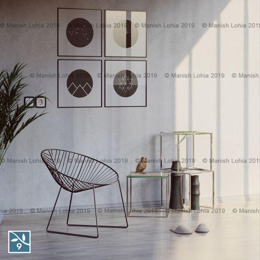 مدل سه بعدی فضاهای مختلف داخلی و خارجی