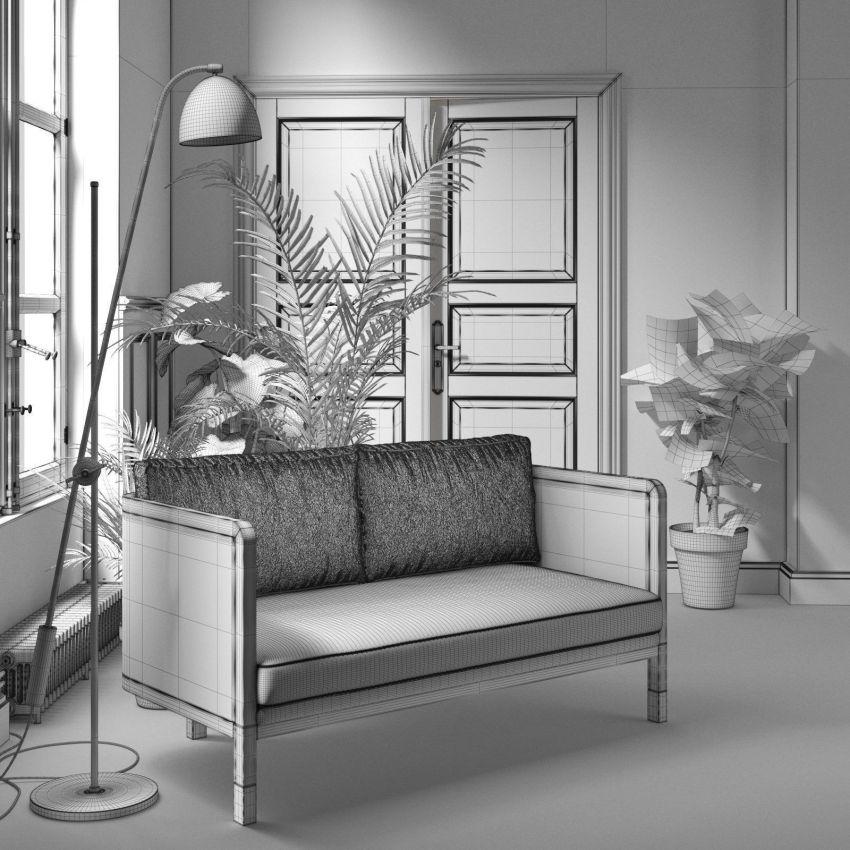 مجموعه آبجکت صحنه داخلی