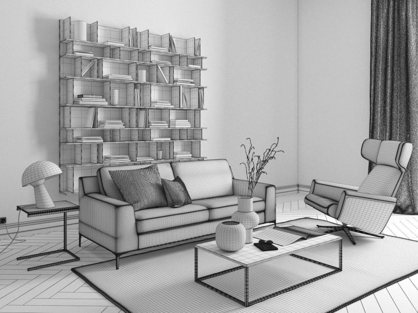 مدل سه بعدی اتاق