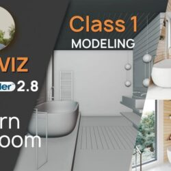 آموزش مدلسازی حمام مدرن در بلندر