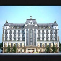 دانلود صحنه خارجی هتل نئوکلاسیک
