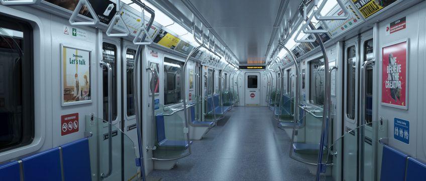 دانلود صحنه آماده داخلی مترو