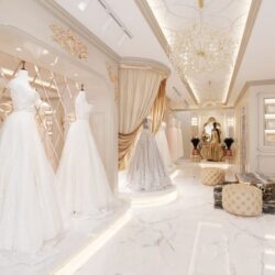 صحنه آماده مزون لباس عروس