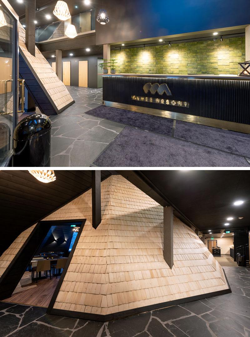 طراحی اقامتگاه زمستانی با سقف شیشه ایی