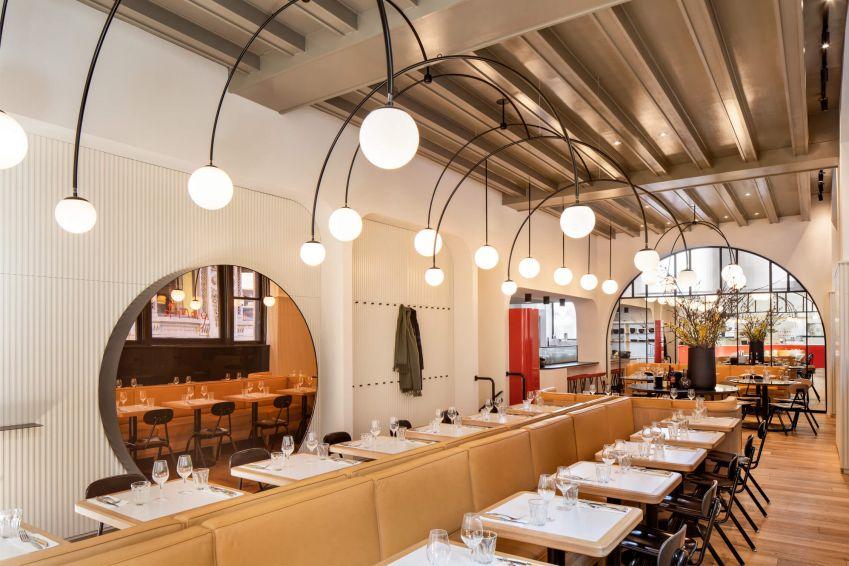 طراحی رستوران با آرک های خلاقانه