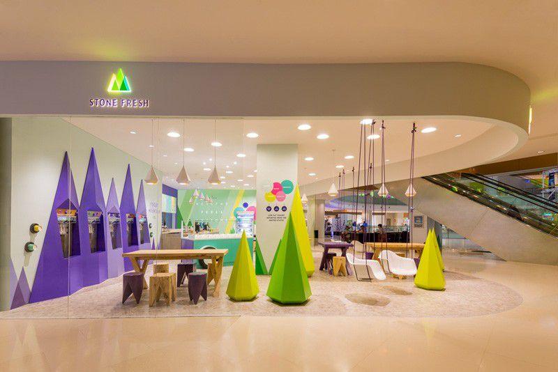 طراحی بستنی فروشی در شانگهای