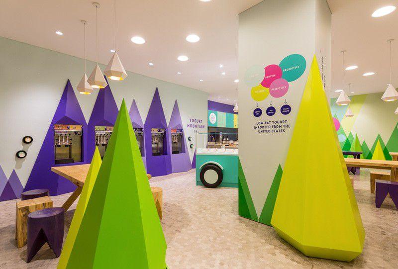دکوراسیون داخلی بستنی فروشی