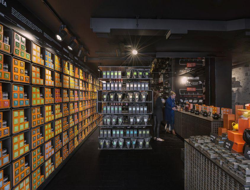 معماری داخلی فروشگاه چای
