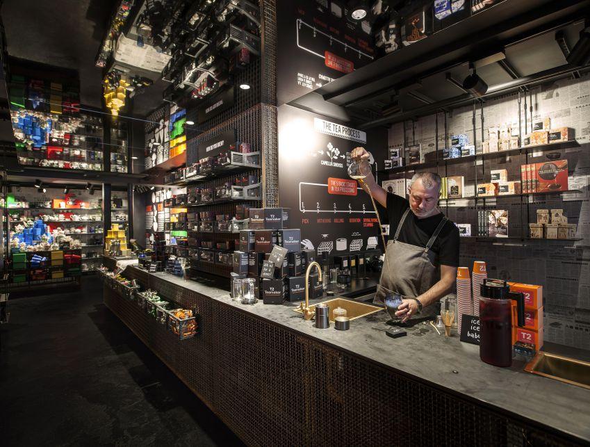 دکوراسیون داخلی فروشگاه چای