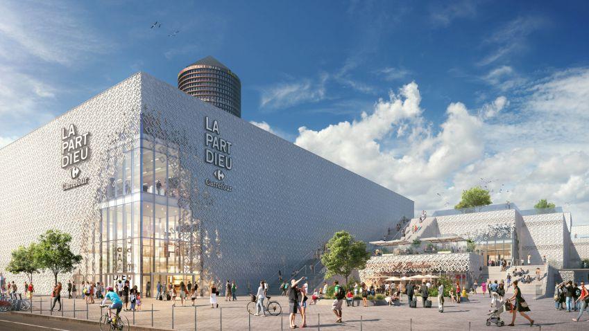 طراحی نمای تبخیری مرکز خرید لیون