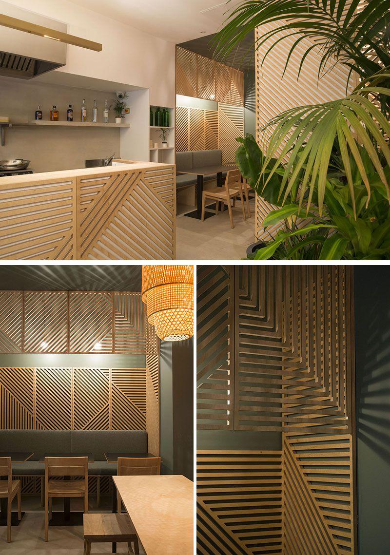 پانل های چوبی دیواری در دکوراسیون رستوران