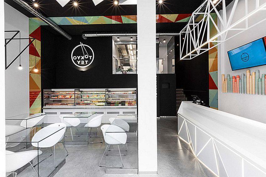 دکوراسیون داخلی رستوران با الهام از سوشی
