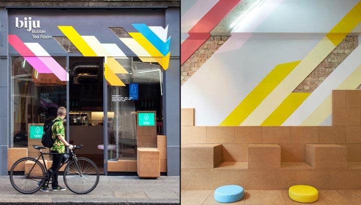 دکوراسیون داخلی اتاق چای با چوب بلوط