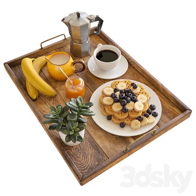 مدل سه بعدی میز صبحانه
