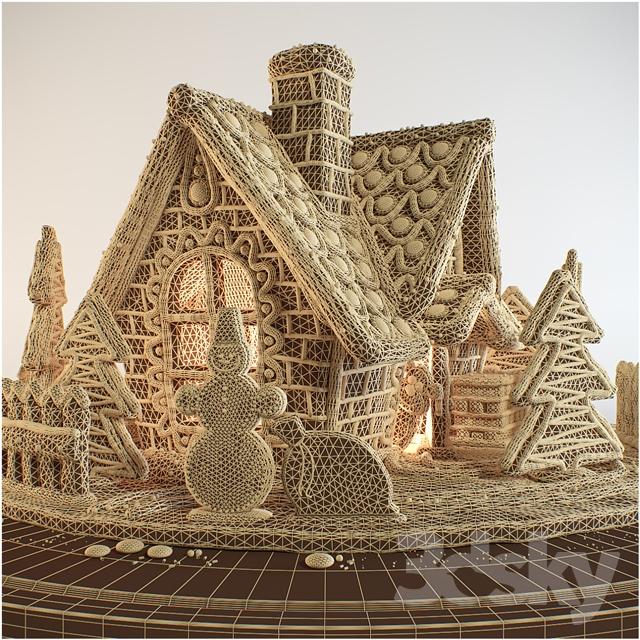 مدل سه بعدی کیک