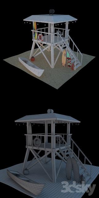 مدل سه بعدی آلاچیق و سایه بان