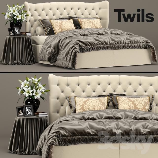 مدل سه بعدی تختخواب کلاسیک