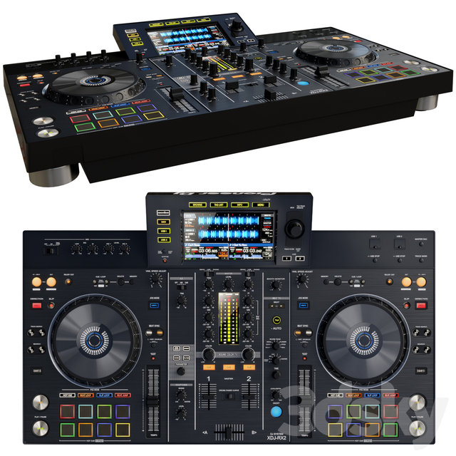 مدل سه بعدی دستگاه DJ