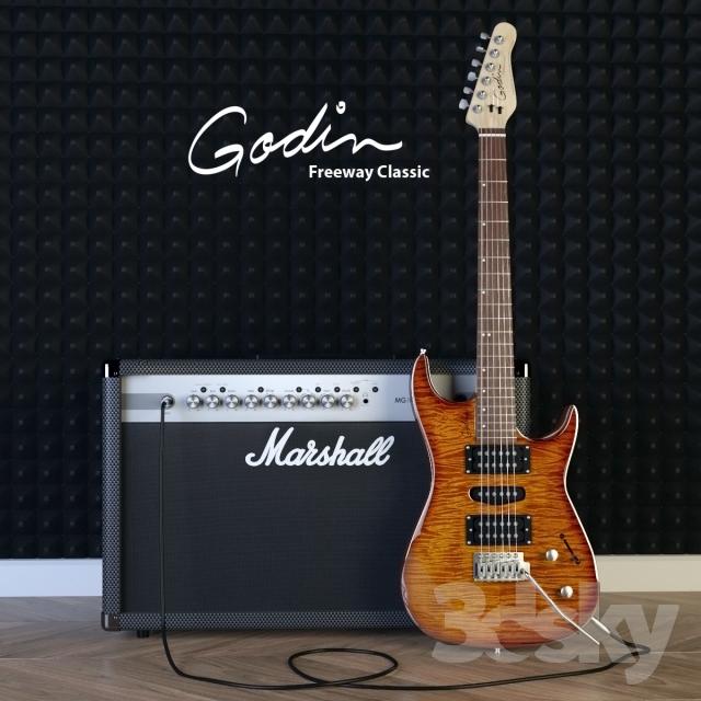 مدل سه بعدی گیتار الکتریک