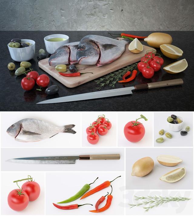 مدل سه بعدی غذا