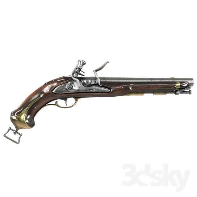 مدل سه بعدی اسلحه
