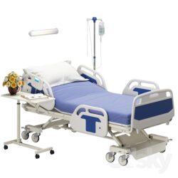 دانلود آبجکت تخت بیمارستان از Pro 3DSky