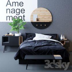 دانلود آبجکت تخت خواب مدرن از Pro 3DSky – کالکشن 2
