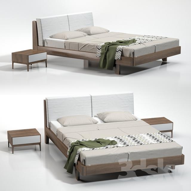 مدل سه بعدی تختخواب مدرن