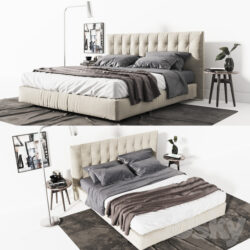 دانلود مدل سه بعدی تختخواب مدرن از Pro 3DSky – کالکشن 4