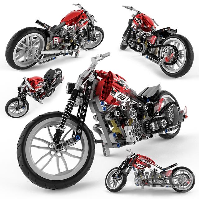 مدل سه بعدی موتور سیکلت
