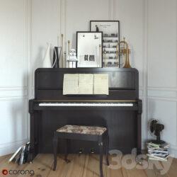 دانلود آبجکت پیانو از Pro 3DSky