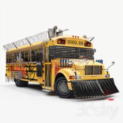 دانلود آبجکت اتوبوس مدرسه از Pro 3DSky