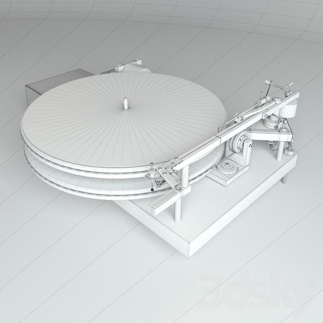مدل سه بعدی گرامافون