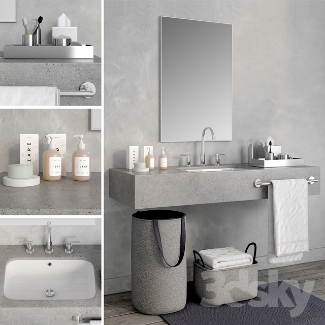 مدل سه بعدی وسایل حمام