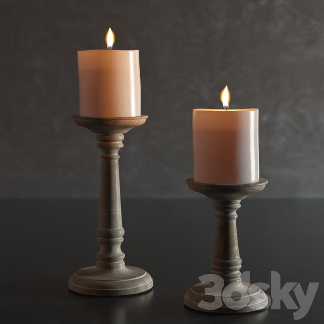 مدل سه بعدی شمعدان