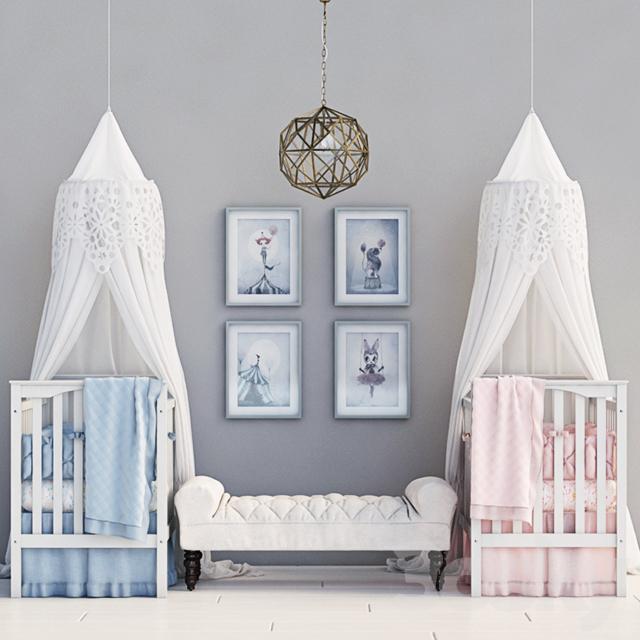 مدل سه بعدی تخت خواب کودک