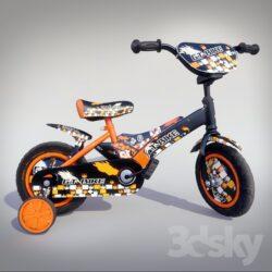 دانلود آبجکت دوچرخه کودک از Pro 3DSky