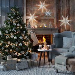 دانلود آبجکت کریسمس از Pro 3DSky