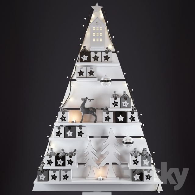 مدل سه بعدی لوازم کریسمس
