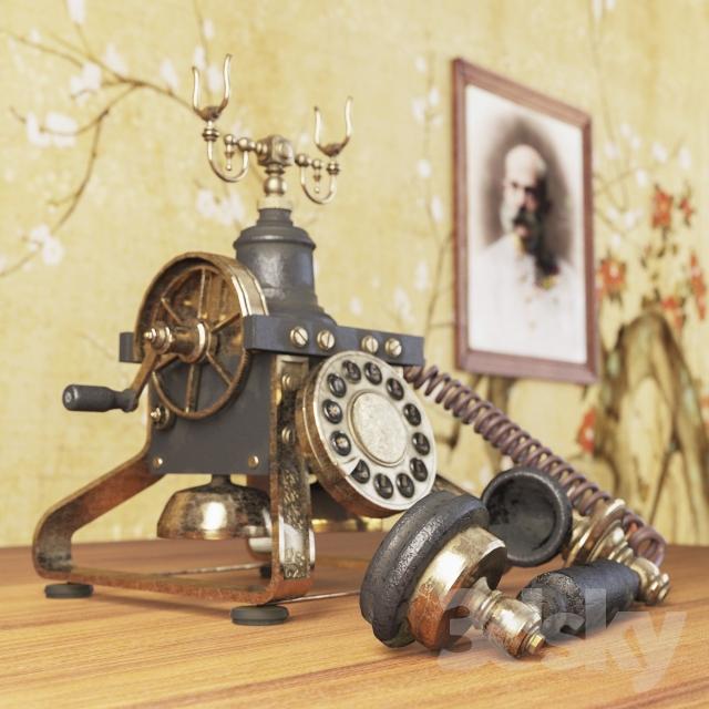 مدل سه بعدی تلفن