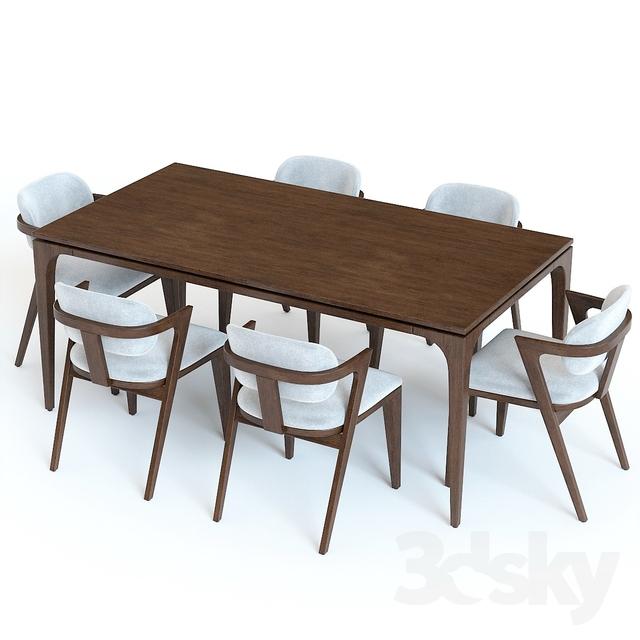 مدل سه بعدی میز غذا خوری