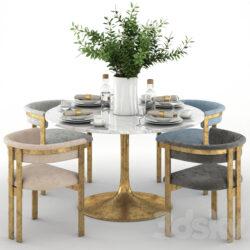دانلود 55 آبجکت میز غذاخوری از Pro 3DSky – کالکشن 4